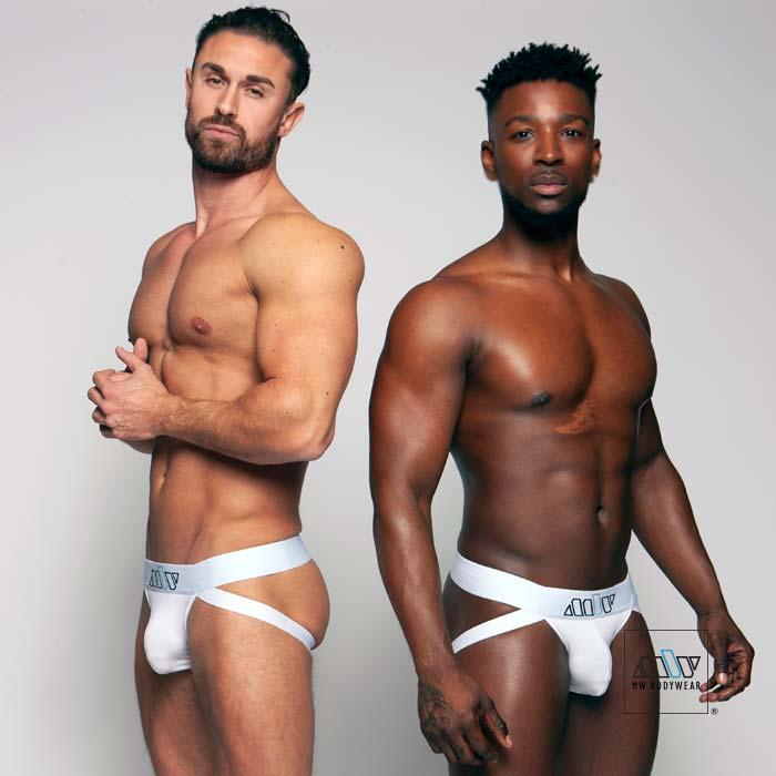 white jockstraps underwear